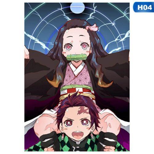 Anime Poster Banpresto Demon Slayer Home Decor Wall Scroll Painting   #