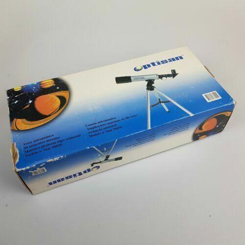 Telescopio Optisan Modelo no. Estrella 36050 en caja + instrucciones y mapa de la Luna
