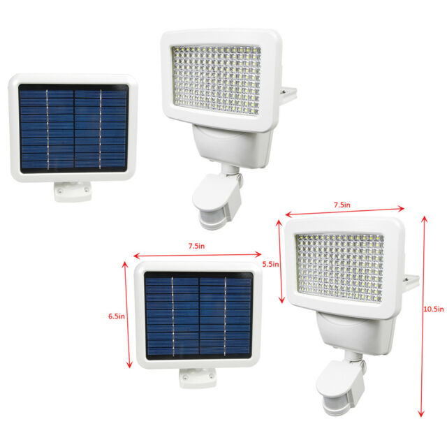 2 pack 150 smd leds solar powered white motion sensor security light 2 pack 150 smd leds solar powered white motion sensor security light flood 100 aloadofball Choice Image