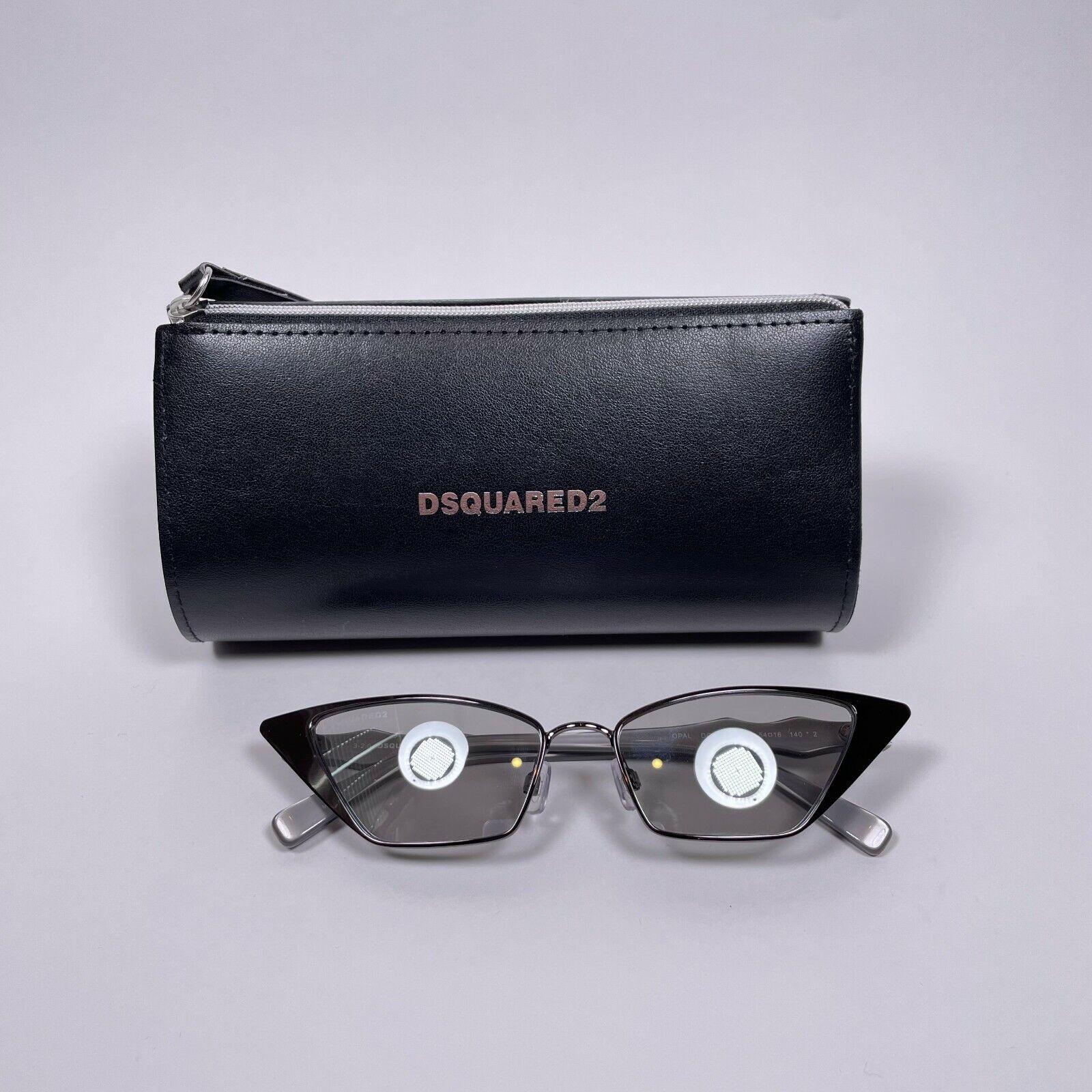 DSQUARED2 Grey Metal Small Cat Eye Sunglasses