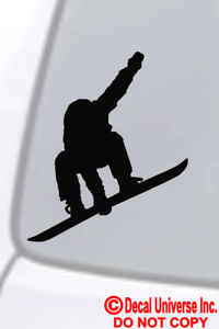 """Snowboard SnowBoarder Decal Sticker    FREE US SHIP  Many Colors 4/"""" x 4.5/"""""""