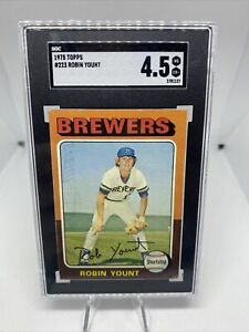 1975 Topps Baseball #223 Robin Yount Rookie HOF Brewers SGC 4.5 EX