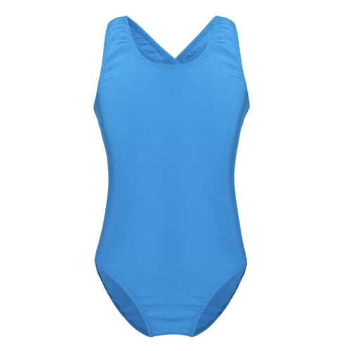 Girls Gymnastics Ballet Camisole Leotard Dance Cutout Back Jumpsuit Costume