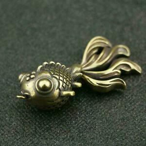 Chinese-Brass-Goldfish-Pendant-Small-Statue-China-Zodiac-Pocket-Xmas-Gifts-Toys