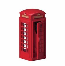 New Lemax Village Metal Telephone Booth Accessory Set Christmas House Figure
