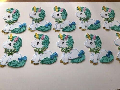 10 Figuras De Fomi Unicornio