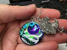 "Peacock Bird Love Mix A Charm Tibetan Silver with 18"" Necklace BIN"