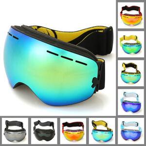 322d61b0dcf4 Double Lens UV400 Anti-Fog Big Spherical Skiing Glasses Eyewear Snow ...