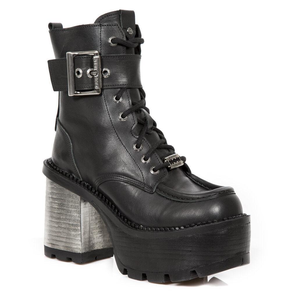 New Rock Damen- Stiefel Boots Schuhe 70´s SEVENTY NEGRO Schwarz
