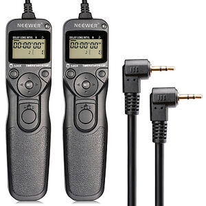 Neewer-2-Pack-LCD-Timer-Shutter-Release-Remote-Control-Cord-RS-60E3-for-Canon