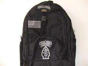 US-ARMY-SPECIAL-FORCES-BACKPACK-DAY-PACK-BOOK-BAG-COMPUTER-BLACK-EMBROIDERED