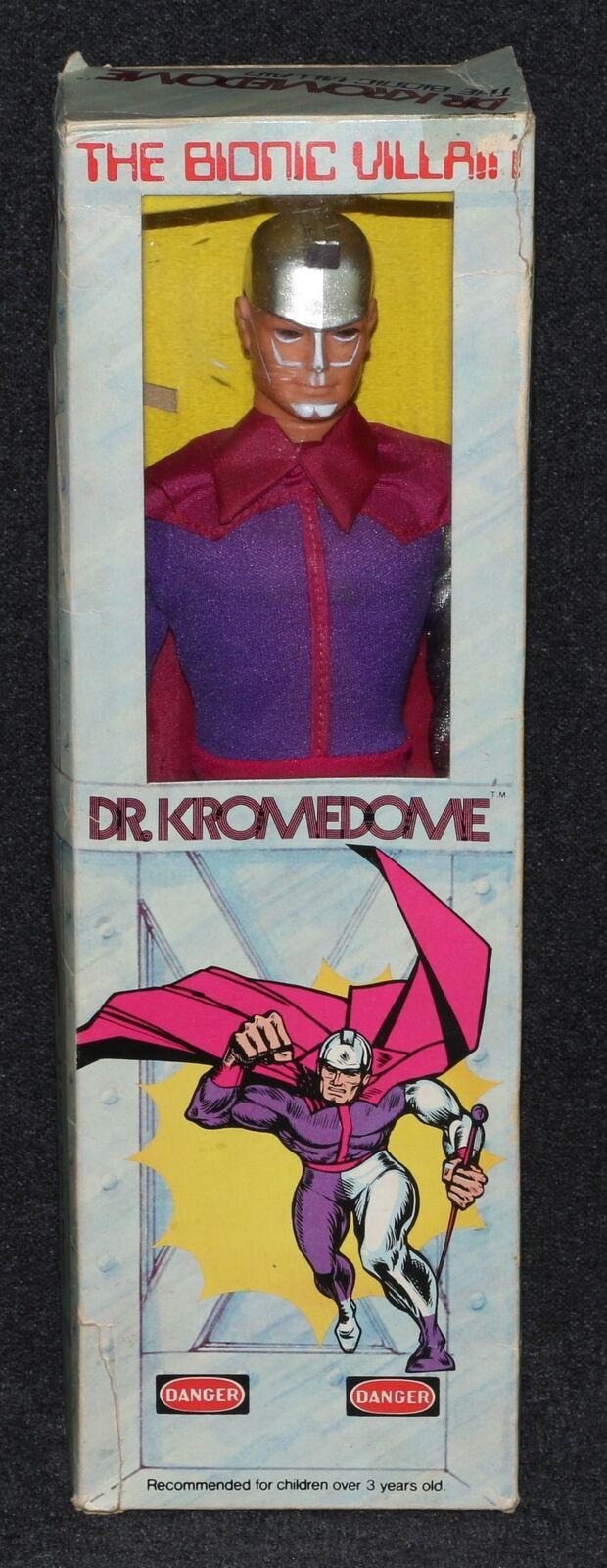 están haciendo actividades de descuento Six Million Dollar Man 1975 1975 1975 Mego kromedome Bionic Villano Montgomery Ward Menta en caja  garantía de crédito