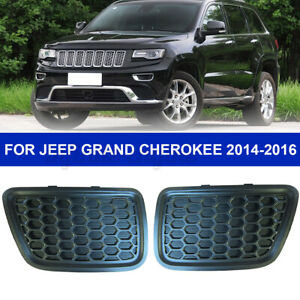 2Pcs Front Lower Grille Tow Insert Bezel Mopar For Jeep Grand Cherokee  e Д