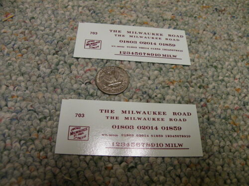 Herald King decals HO Milwaukee Road caboose maroon  caboose 2 sheets   XX174