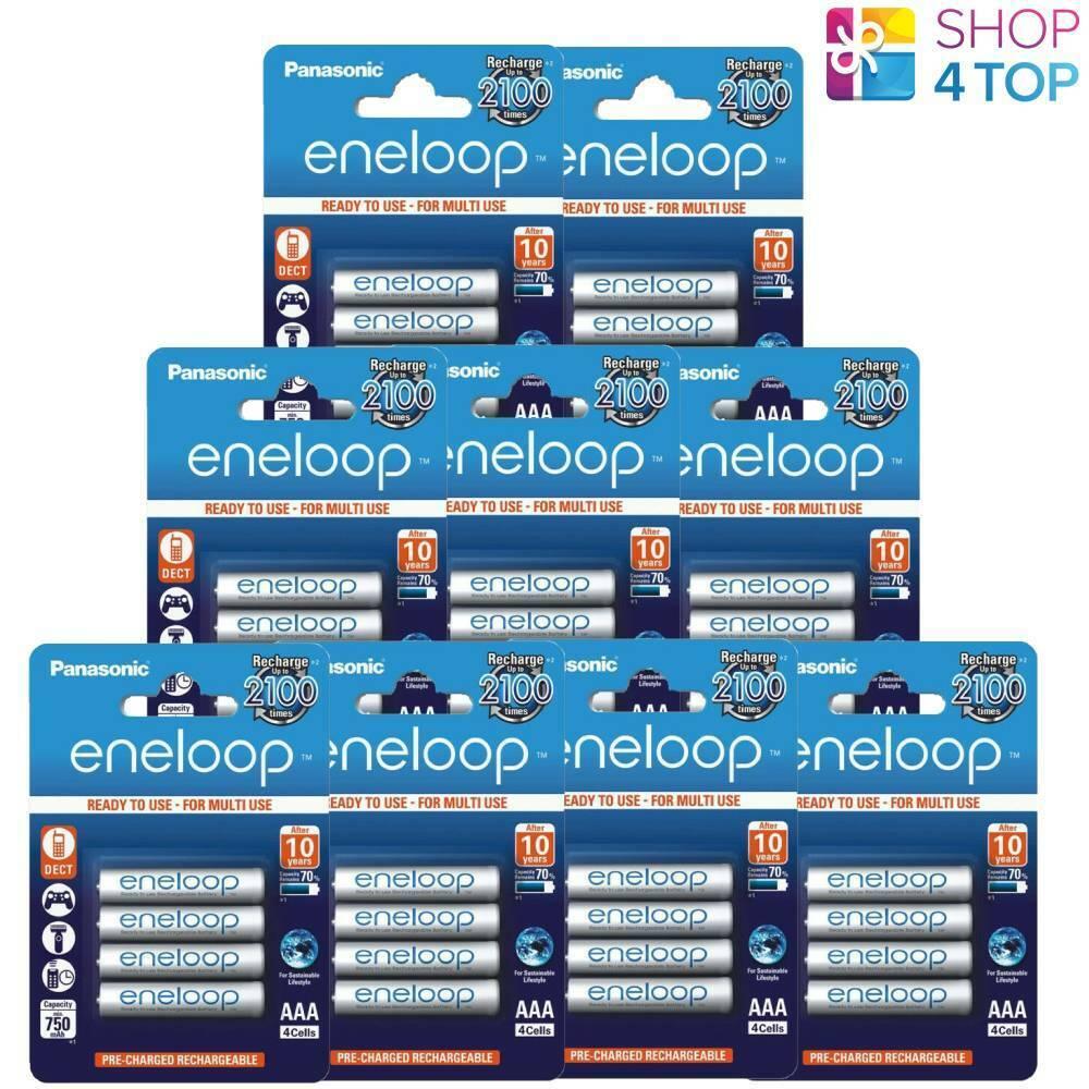 36 Panasonic Eneloop Rechargeable AAA hr03 Batteries Blister Pack 1.2v 750mah