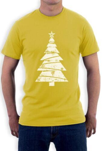 Xmas Gift Idea T-Shirt Holidays Clothing Big White Distressed Christmas Tree