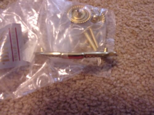 "Period Brass Solid Brass Cabinet Knob Drawer Pull 3 1//4/"""