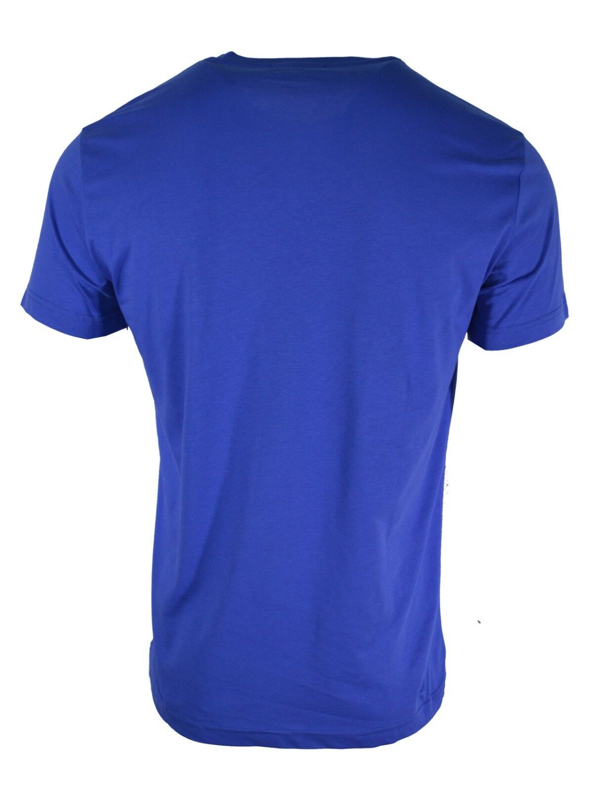 BNWT Versace Versace Versace Jeans Blu Royal & Nero Foglia ricamato sul petto Tiger T-Shirt Logo 6c1338