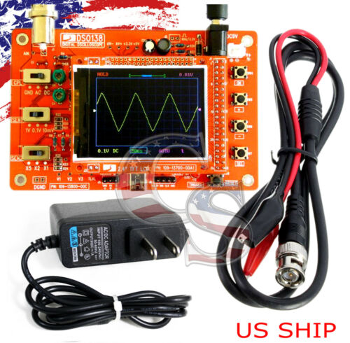 """Fully Assembled DSO138 2.4/"""" TFT Digital Oscilloscope 1Msps with One FREE Probe"""