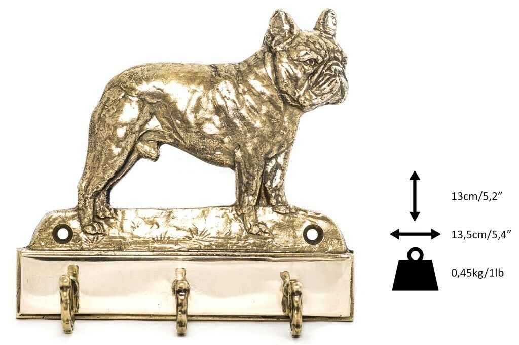 French Bulldog  brass hanger with image of a dog, high quality, Art Dog