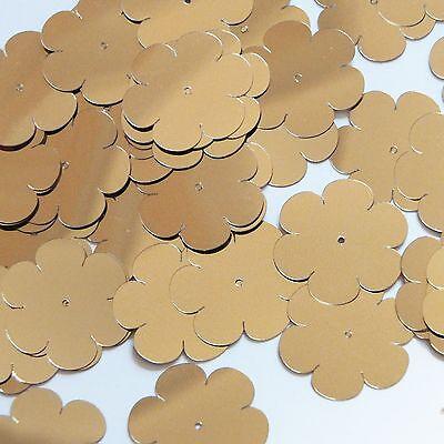 """Flower Sequin 1"""" / 25mm Pale Gold Metallic Couture Paillettes Grondstoffen Zijn Zonder Beperking Beschikbaar"""