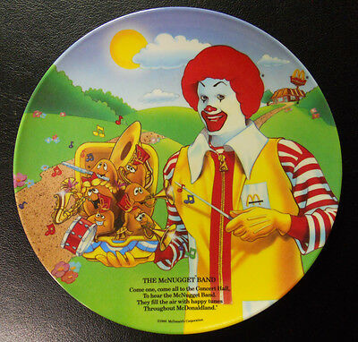 VINTAGE 1989 McDonald/'s Plate-The McNugget Band