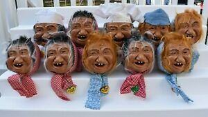 Large Lot of 10 Laffun Heads for Parts or Repair Chef Woman Boxes