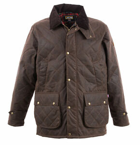 JCB Cheltenham Mens Wax Jacket Brown Various Size D-1X