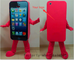 Adult Size Cell Phone Apple iPhone 5 Mascot Cosplay Costumes Fancy Dress