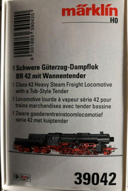 Märklin 39042 Güterzug-Dampflok BR 42 der DB Ep. III NEU in OVP