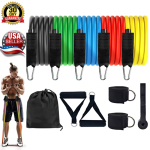 Ankle Straps Exercise Bands with Handles Resistance Bands Set Door Anchor