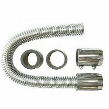 SBC BBC 36 in. Chrome Radiator Hose Kit hot rod big small block chevy early ss