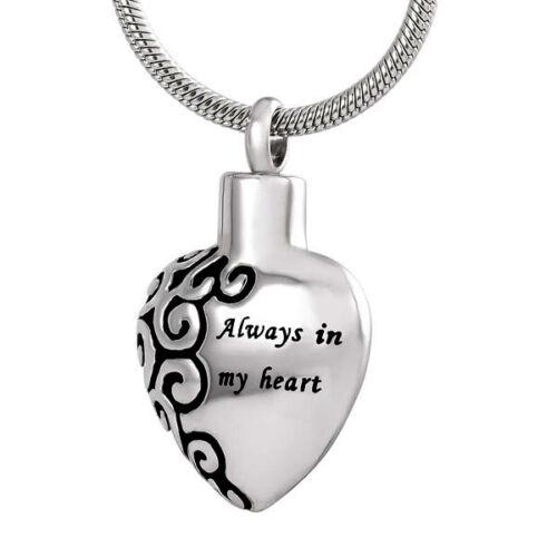 Crémation Bijou pour cendres Memorial Souvenir Collier pendentif médaillon Pochette