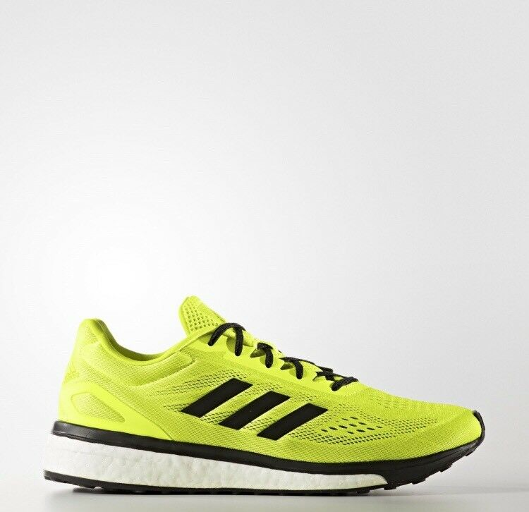 Adidas NEW Respnse Boost LT SonicDrive Yellow/Black Running Shoes Mens Comfortable