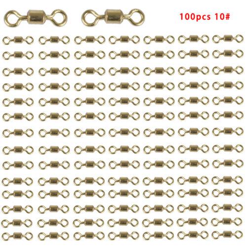 50 stücke 100 stücke Angeln Stecker Kugellagerwirbel Solide Ring Barrel Ro CH