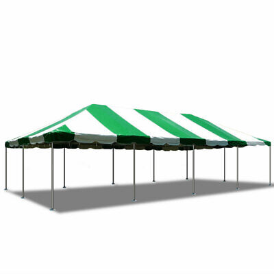 finest selection 9921f 33f0b 20' x 40' Green White Waterproof PVC Top Canopy Party Event Steel Frame  Tent | eBay