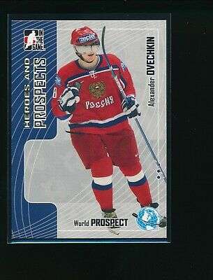 Alexander Ovechkin Hockey Card 2005-06 ITG Heroes and Prospects #109 Alexander Ovechkin
