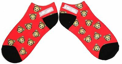 Damen Foto Stretch No Monkey Business-Schuh-Liner Socken Uk Größe 4-8 / Us 6-10