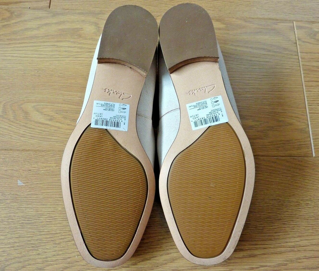 Clarks Damas sentido De Cuero blancoo puro sentido Damas Mocasines Zapatos Talla EU 38 UK 5D f20327