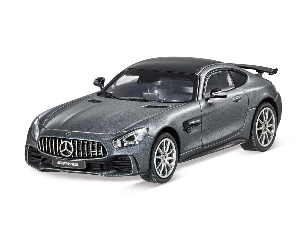 Genuine Mercedes-Benz Model Car AMG GT R COUPE COUPE SELENITE grau magno C190 1 43