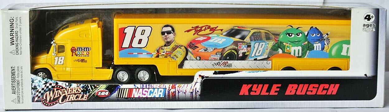 NASCAR Hauler Team TRANSPORTER 2010 * JOE GIBBS RACING * Kyle Busch - 1:64 RARE