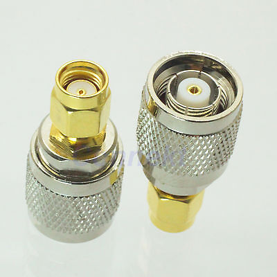 1pce RP-TNC male jack to RP-SMA male JACK RF coaxial adapter connector