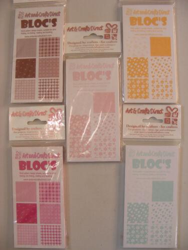 Apto elaboración de tarjetas Lote de Trabajo de Bloc/'s por el arte y la artesanía directo BNIP