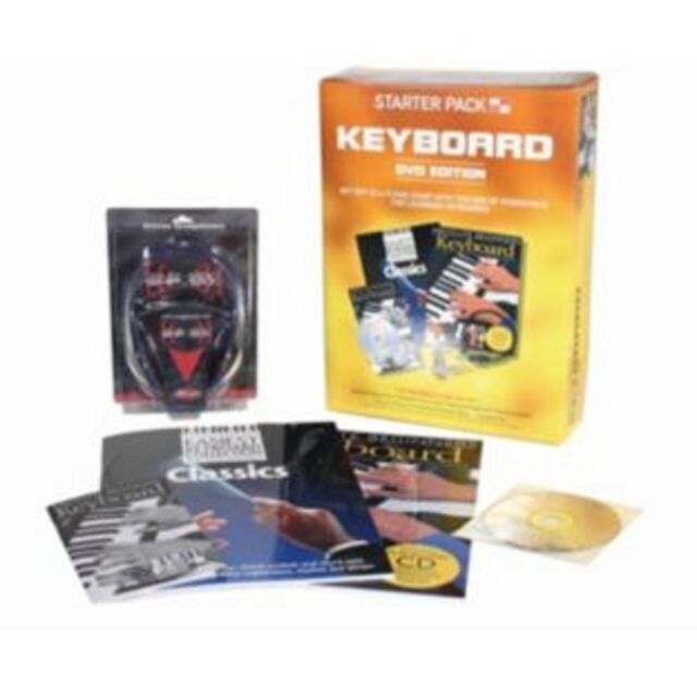 STARTER PACK KEYBOARD ABSOLUTE BEGINNERS - BOOK, CD, DVD & HEADPHONES SET