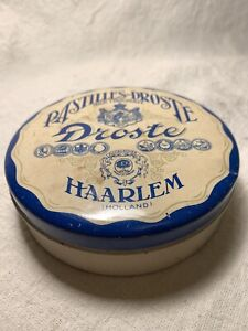 Antique Droste Milk Chocolate Tin From Haarlem, Holland