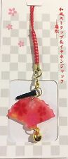 Phone strap - Eventail SENSU avec support prise écouteur  - Import direct Japon