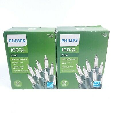 Philips 100ct Christmas Incandescent Smooth Mini String Lights BLUE NIB