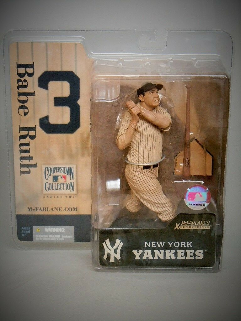 McFARLANE BABE RUTH NY Yankees MLB '05 Cooperstown Series 2 SEPIA VARIANT_New