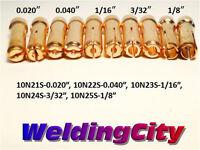 10 Stubby Collets 10n21s 10n22s 10n23s 10n24s 10n25s Tig Welding Torch 17/18/26