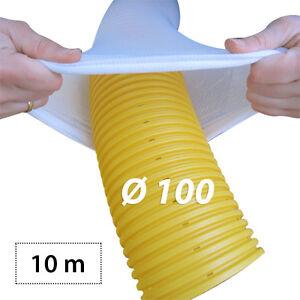 10m drainagerohr dn100 gelb gelocht und 10m drainagefilterschlauch als set ebay. Black Bedroom Furniture Sets. Home Design Ideas